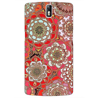 1 Crazy Designer Orange Flowers Pattern Back Cover Case For OnePlus One C410258