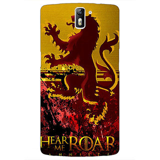 1 Crazy Designer Game Of Thrones GOT House Lannister Back Cover Case For OnePlus One C411540