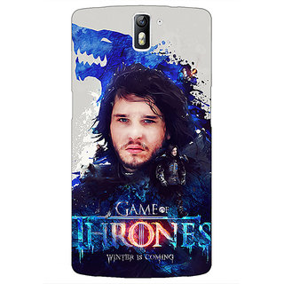 1 Crazy Designer Game Of Thrones GOT Jon Snow House Stark Back Cover Case For OnePlus One C411548