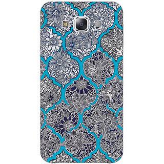 1 Crazy Designer Blue Morroccan Pattern Back Cover Case For Samsung Galaxy E7 C420243
