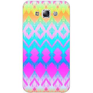 1 Crazy Designer Psychdelic Triangles Pattern Back Cover Case For Samsung Galaxy E7 C420248
