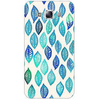 1 Crazy Designer Blue Leaves Pattern Back Cover Case For Samsung Galaxy E7 C420254