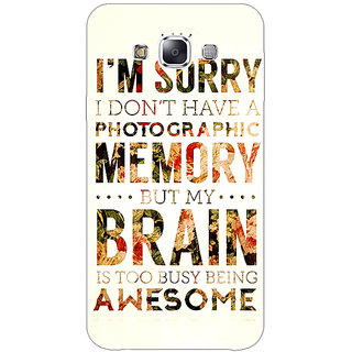 1 Crazy Designer SUITS Quotes Back Cover Case For Samsung Galaxy E7 C420481