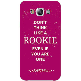 1 Crazy Designer SUITS Quotes Back Cover Case For Samsung Galaxy E7 C420484