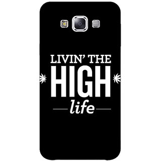 1 Crazy Designer Weed Quotes Back Cover Case For Samsung Galaxy E7 C420499