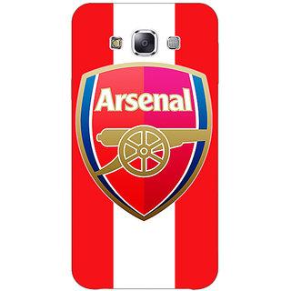 1 Crazy Designer Arsenal Back Cover Case For Samsung Galaxy E7 C420509