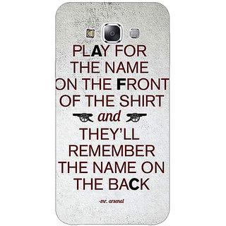 1 Crazy Designer Arsenal Back Cover Case For Samsung Galaxy E7 C420512