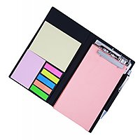COI MEMO NEON CORAL NOTE PAD/MEMO NOTE BOOK WITH STICKY NOTES  CLIP HOLDER IN D