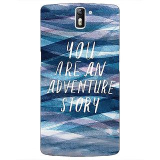 1 Crazy Designer Quotes Adventure Back Cover Case For OnePlus One C411159