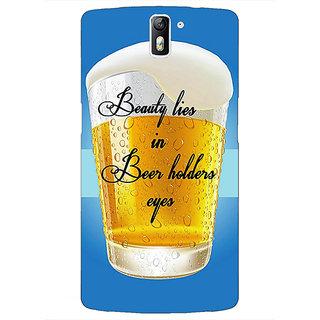 1 Crazy Designer Beer Holder Back Cover Case For OnePlus One C411208