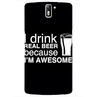 1 Crazy Designer Beer Quote Back Cover Case For OnePlus One C411209