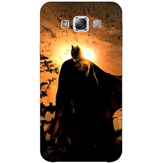 1 Crazy Designer Superheroes Batman Dark knight Back Cover Case For Samsung Galaxy E7 C420005