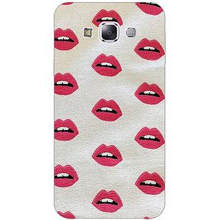 1 Crazy Designer Kiss Back Cover Case For Samsung Galaxy E7 C420099
