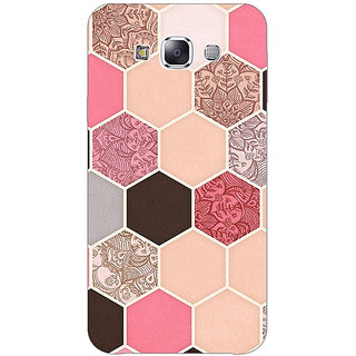 1 Crazy Designer Pink Hexagons Pattern Back Cover Case For Samsung Galaxy E7 C420271