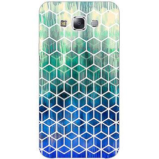 1 Crazy Designer Blue Hexagon Pattern Back Cover Case For Samsung Galaxy E7 C420285