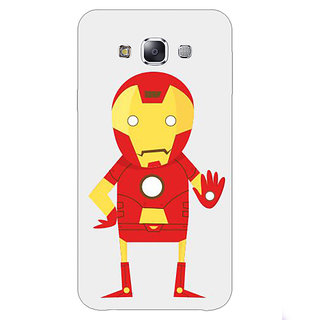 1 Crazy Designer Superheroes Iron Man Back Cover Case For Samsung Galaxy E7 C420329