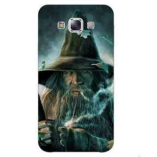 1 Crazy Designer LOTR Hobbit Gandalf Back Cover Case For Samsung Galaxy E7 C420364