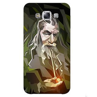 1 Crazy Designer LOTR Hobbit Gandalf Back Cover Case For Samsung Galaxy E7 C420366