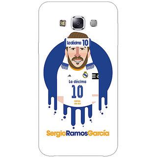 1 Crazy Designer Real Madrid Sergio Ramos Back Cover Case For Samsung Galaxy E7 C420587