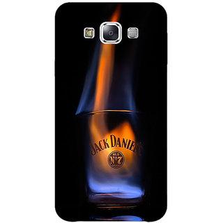 1 Crazy Designer Jack Daniels JD Whisky Flaming Back Cover Case For Samsung Galaxy E7 C421212