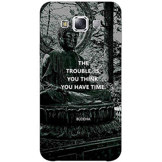 1 Crazy Designer Gautam Buddha Back Cover Case For Samsung Galaxy E7 C421276