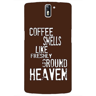 1 Crazy Designer Coffee Quote Back Cover Case For OnePlus One C411221