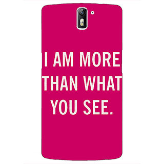 1 Crazy Designer Quote Back Cover Case For OnePlus One C411225