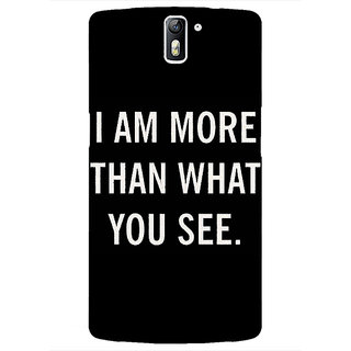 1 Crazy Designer Quote Back Cover Case For OnePlus One C411230