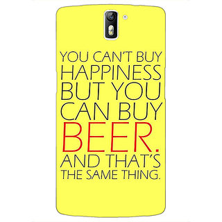 1 Crazy Designer Beer Quote Back Cover Case For OnePlus One C411231