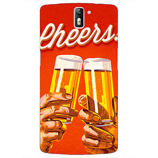 1 Crazy Designer Beer Quote Cheers Back Cover Case For OnePlus One C411252