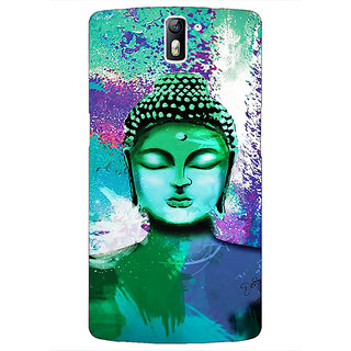 1 Crazy Designer Gautam Buddha Back Cover Case For OnePlus One C411265