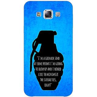 1 Crazy Designer TFIOS Grenade  Back Cover Case For Samsung Galaxy E7 C420106