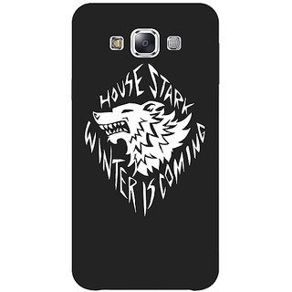 1 Crazy Designer Game Of Thrones GOT House Stark  Back Cover Case For Samsung Galaxy E7 C420121