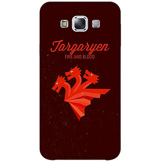 1 Crazy Designer Game Of Thrones GOT House Targaryen  Back Cover Case For Samsung Galaxy E7 C420137