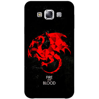 1 Crazy Designer Game Of Thrones GOT House Targaryen  Back Cover Case For Samsung Galaxy E7 C420140