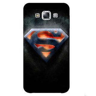1 Crazy Designer Superheroes Superman Back Cover Case For Samsung Galaxy E7 C420386
