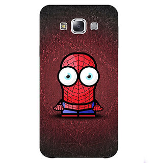 1 Crazy Designer Big Eyed Superheroes Spiderman Back Cover Case For Samsung Galaxy E7 C420398