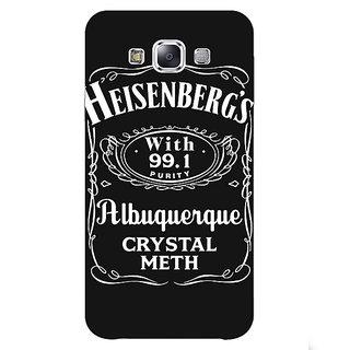 1 Crazy Designer Breaking Bad Heisenberg Back Cover Case For Samsung Galaxy E7 C420402
