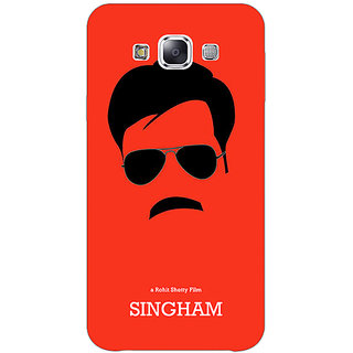 1 Crazy Designer Bollywood Superstar Singham Back Cover Case For Samsung Galaxy E7 C421079
