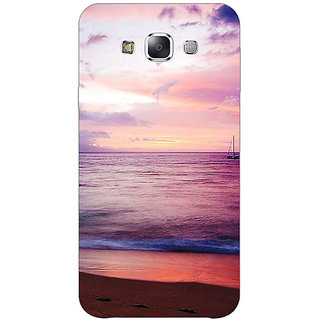 1 Crazy Designer Sunset At the Beach Back Cover Case For Samsung Galaxy E7 C421136