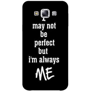 1 Crazy Designer Quote Back Cover Case For Samsung Galaxy E7 C421289