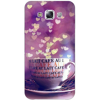 1 Crazy Designer Coffee Back Cover Case For Samsung Galaxy E7 C421295