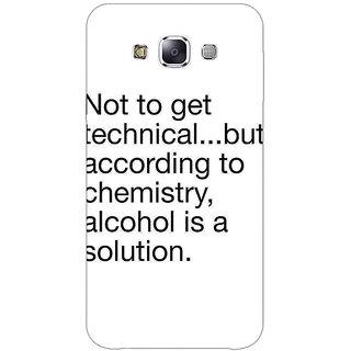 1 Crazy Designer Alcohol Quote Back Cover Case For Samsung Galaxy E7 C421310