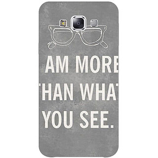 1 Crazy Designer Quote Back Cover Case For Samsung Galaxy E7 C421316
