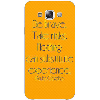 1 Crazy Designer Quote Back Cover Case For Samsung Galaxy E7 C421354