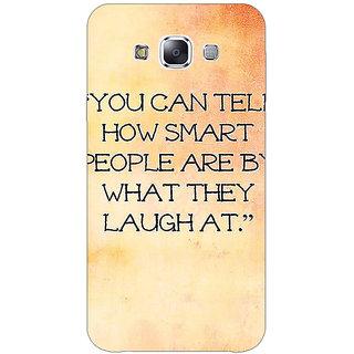 1 Crazy Designer Quote Back Cover Case For Samsung Galaxy E7 C421357