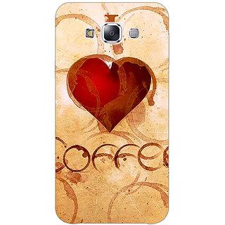 1 Crazy Designer Coffee Quote Back Cover Case For Samsung Galaxy E7 C421362