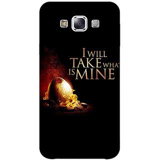 1 Crazy Designer Game Of Thrones GOT Khaleesi Daenerys Targaryen Back Cover Case For Samsung Galaxy E7 C421543