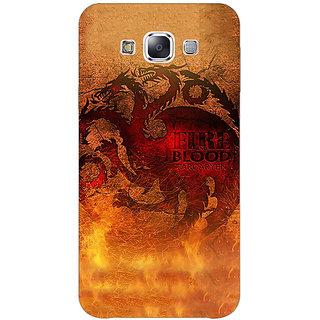 1 Crazy Designer Game Of Thrones GOT House Targaryen Back Cover Case For Samsung Galaxy E7 C421550