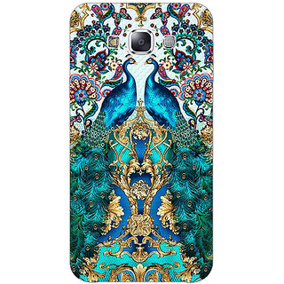 1 Crazy Designer Paisley Beautiful Peacock Back Cover Case For Samsung Galaxy E7 C421593